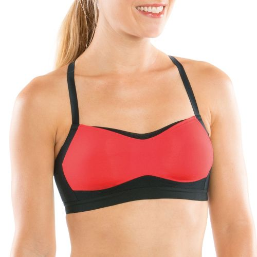 Womens Moving Comfort Fineform C/D Sports Bra - Fruit Punch/Black XS