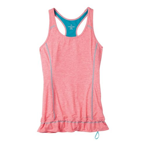 Womens Moving Comfort Endurance Tanks Technical Tops - Fiesta Heather L