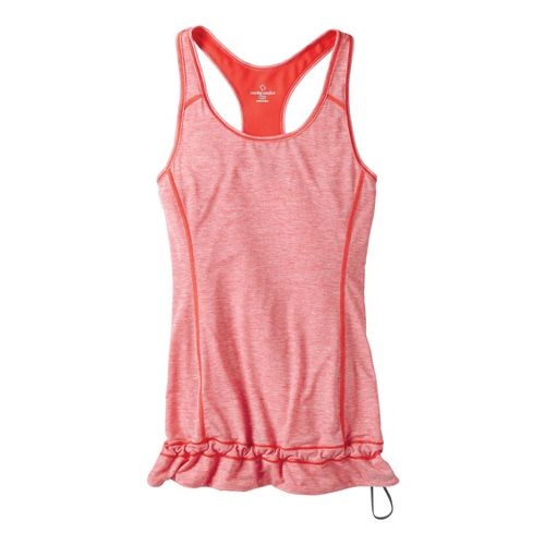 Womens Moving Comfort Endurance Tanks Technical Tops - Red Hot Heather L