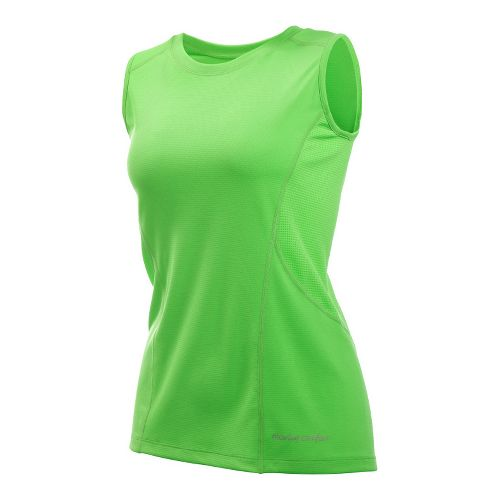 Womens Moving Comfort Endurance Tanks Technical Tops - Sea Grass 2X