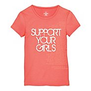 Womens Moving Comfort Support Your Girls T Short Sleeve Non-Technical Tops