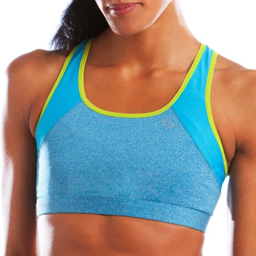 Womens Moving Comfort Phoebe A/B Sports Bra - Blizzard Heather M