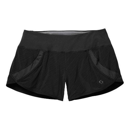 Womens Moving Comfort Momentum Lined Shorts - Black/Print 1X