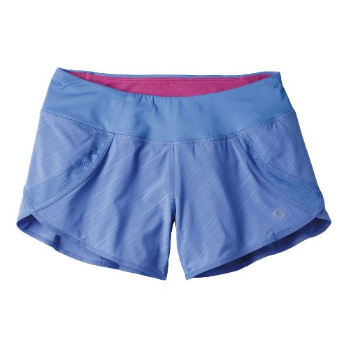 Womens Moving Comfort Momentum Lined Shorts - Cove Lucky Stripe M