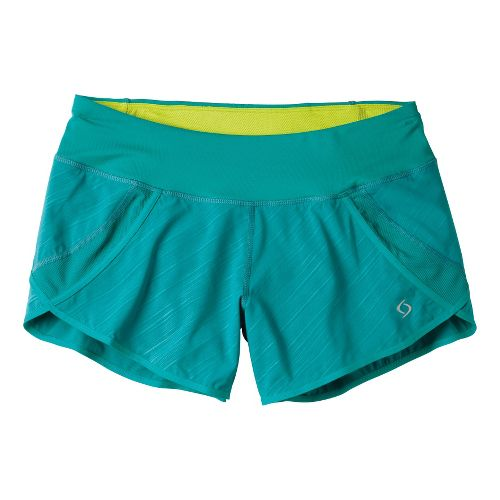 Womens Moving Comfort Momentum Lined Shorts - Luxe Lucky Stripe S