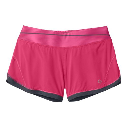 Womens Moving Comfort Momentum Lined Shorts - Shimmer XL
