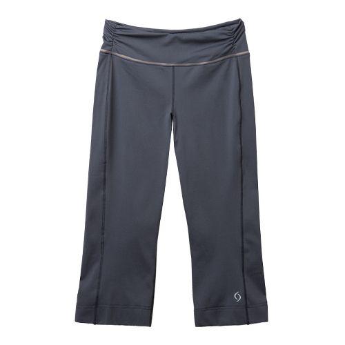 Womens Moving Comfort Fearless Capri Pants - Ebony L