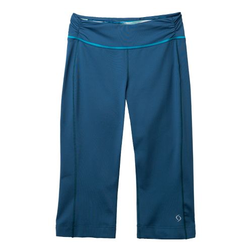 Womens Moving Comfort Fearless Capri Pants - Night Sky M