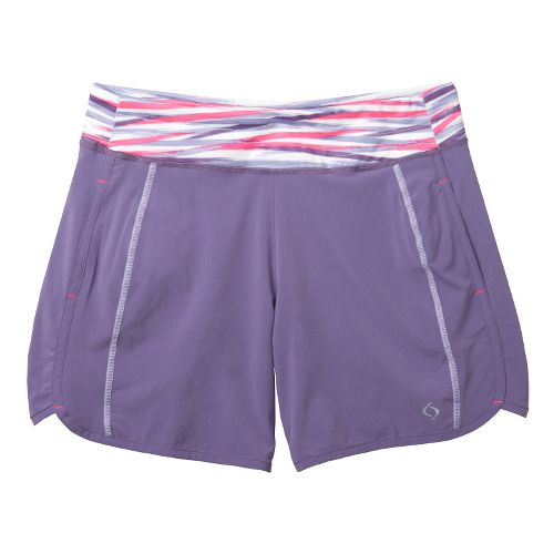 Womens Moving Comfort Work It Lined Shorts - Grape Soda XL