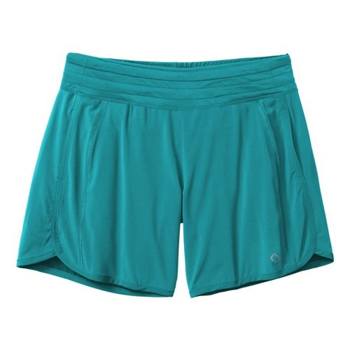 Womens Moving Comfort Work It Lined Shorts - Ocean L