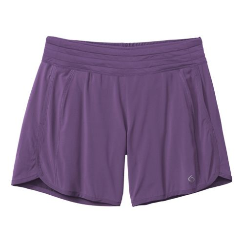 Womens Moving Comfort Work It Lined Shorts - Twilight S