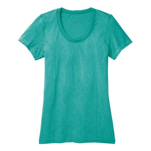 Womens Moving Comfort Flex Tee Short Sleeve Technical Tops - Luxe Heather S
