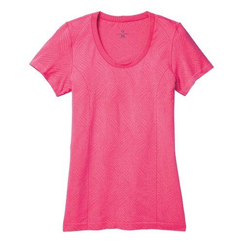 Womens Moving Comfort Flex Tee Short Sleeve Technical Tops - Pixie Heather M