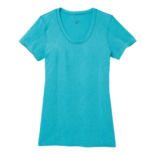 Womens Moving Comfort Flex Tee Short Sleeve Technical Tops - Stardust Heather L