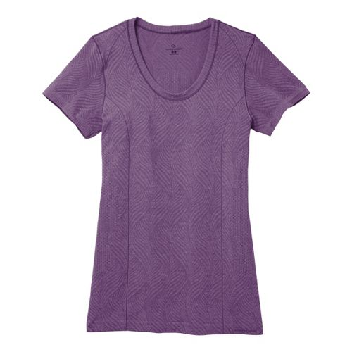 Womens Moving Comfort Flex Tee Short Sleeve Technical Tops - Twilight Heather L