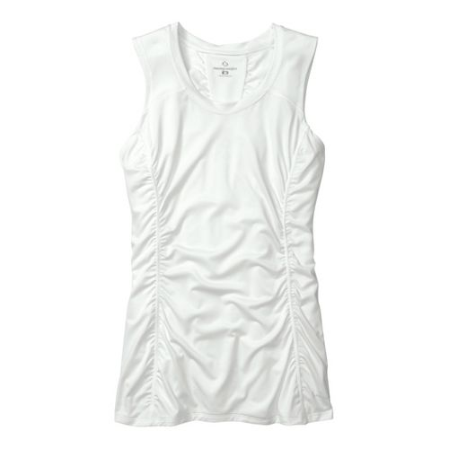 Womens Moving Comfort Sprint Sleeveless Technical Tops - Creme 1X