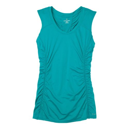Womens Moving Comfort Sprint Sleeveless Technical Tops - Ocean S