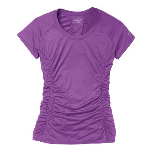 Womens Moving Comfort Sprint Tee Short Sleeve Technical Tops - Violet L