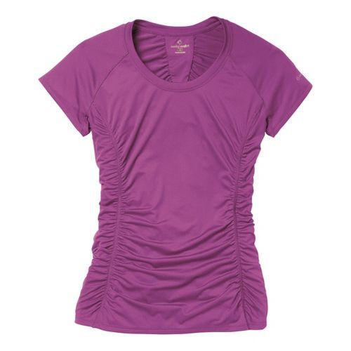 Womens Moving Comfort Sprint Tee Short Sleeve Technical Tops - Velvet M