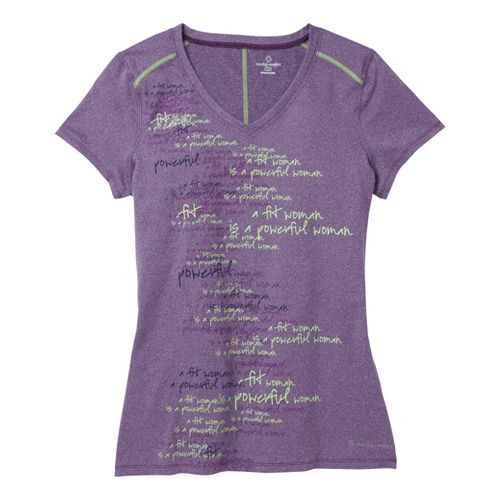 Womens Moving Comfort Performance Tee Short Sleeve Technical Tops - Twilight Heather 1X