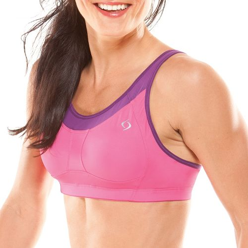 Womens Moving Comfort Vero C/D Sports Bras - Sweet Pea L