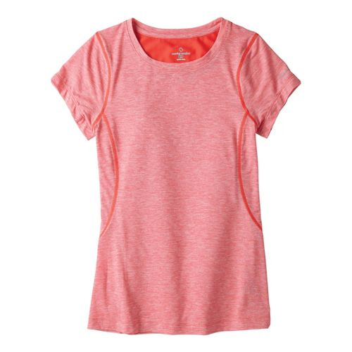 Womens Moving Comfort Endurance Tee Short Sleeve Technical Tops - Red Hot Heather M