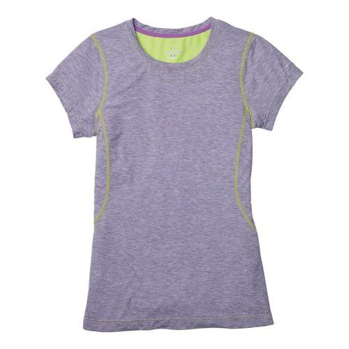 Womens Moving Comfort Endurance Tee Short Sleeve Technical Tops - Twilight Heather 1X