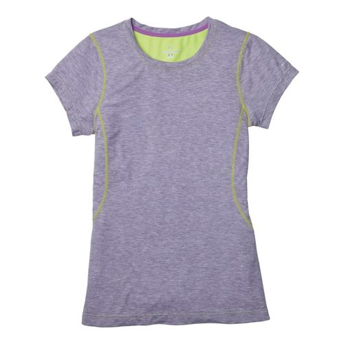 Womens Moving Comfort Endurance Tee Short Sleeve Technical Tops - Twilight Heather L