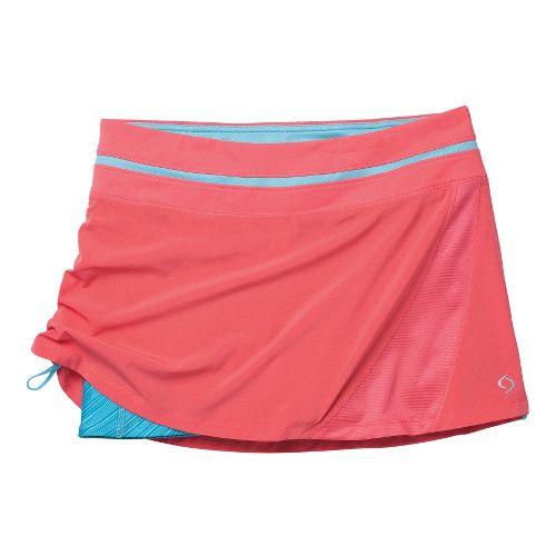 Womens Moving Comfort Sprint Tech Skort Fitness Skirts - Fiesta M