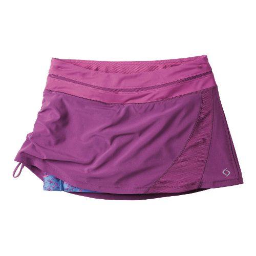 Womens Moving Comfort Sprint Tech Skort Fitness Skirts - Velvet 1X