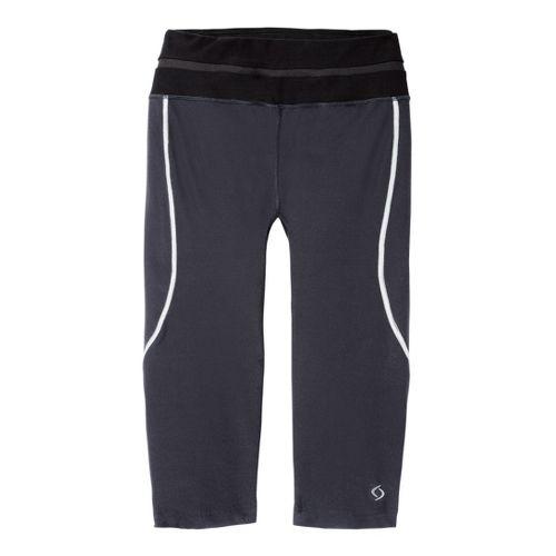 Womens Moving Comfort Sprint Tech Capri Tights - Ebony/Black XL