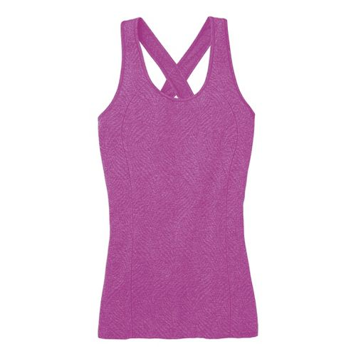 Womens Moving Comfort Flex Tanks Technical Tops - Daydream Heather M