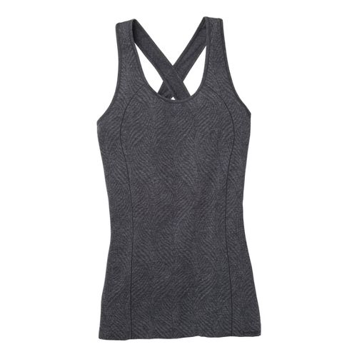 Womens Moving Comfort Flex Tanks Technical Tops - Ebony Heather S