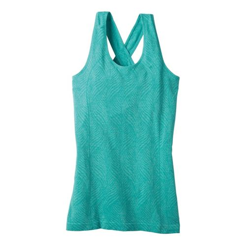 Womens Moving Comfort Flex Tanks Technical Tops - Luxe Heather L