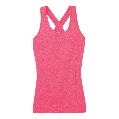 Womens Moving Comfort Flex Tanks Technical Tops - Pixie Heather M