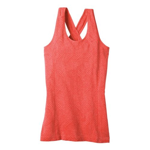 Womens Moving Comfort Flex Tanks Technical Tops - Red Hot Heather S