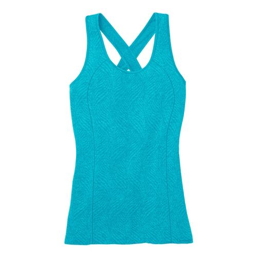 Womens Moving Comfort Flex Tanks Technical Tops - Stardust Heather M
