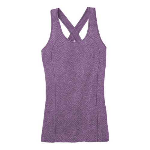 Womens Moving Comfort Flex Tanks Technical Tops - Twilight Heather S