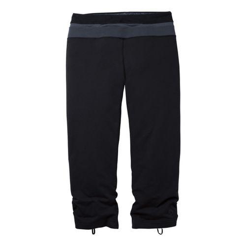 Womens Moving Comfort Flow Capri Tights - Black 1X