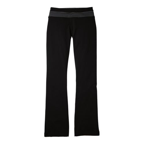 Womens Moving Comfort Flow Full Length Pants - Black/Ebony XLT