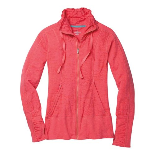 Womens Moving Comfort Flow Burnout Warm-Up Unhooded Jackets - Fiesta M