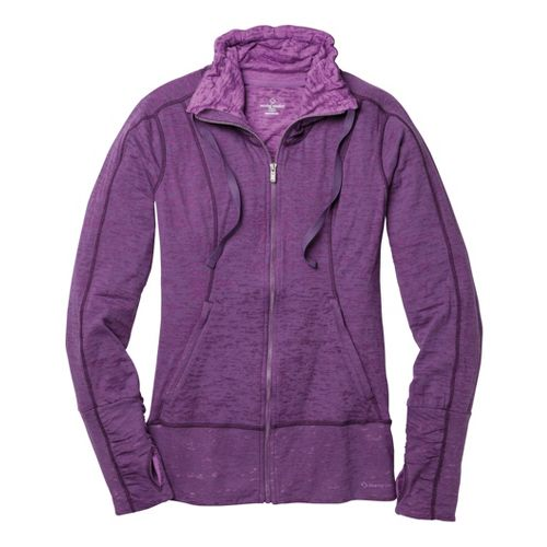 Womens Moving Comfort Flow Burnout Warm-Up Unhooded Jackets - Twilight L