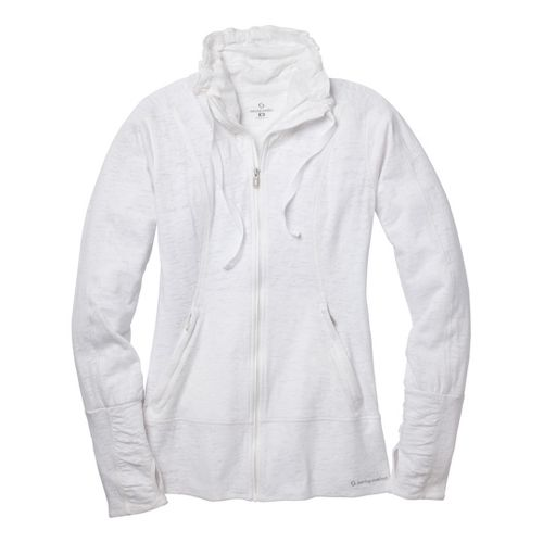 Womens Moving Comfort Flow Burnout Warm-Up Unhooded Jackets - White S