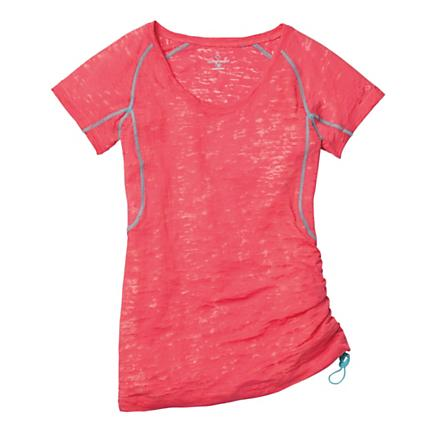 Womens Moving Comfort Flow Burnout Tee Short Sleeve Technical Tops