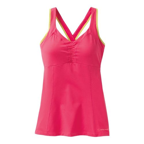 Womens Moving Comfort Flow Crossback Tank A/B Sport Top Bras - Pixie L