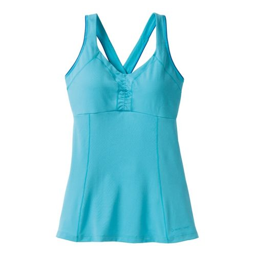 Womens Moving Comfort Flow Crossback Tank A/B Sport Top Bras - Stardust S