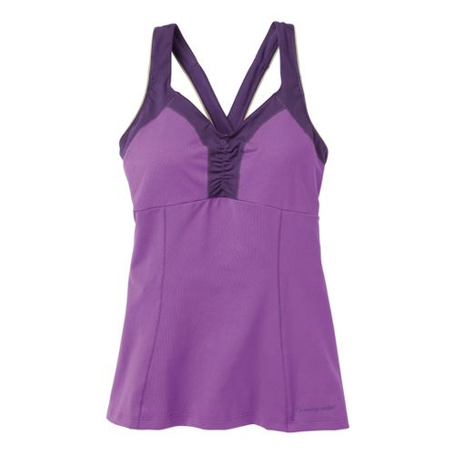 Womens Moving Comfort Flow Crossback Tank A/B Sport Top Bras - Violet S