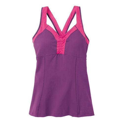 Womens Moving Comfort Flow Crossback Tank A/B Sport Top Bras - Velvet XL