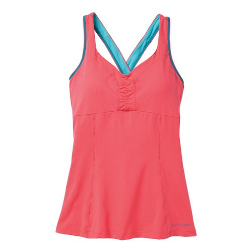 Womens Moving Comfort Flow Crossback Tank C/D Sport Top Bras - Fiesta XL