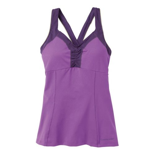 Womens Moving Comfort Flow Crossback Tank C/D Sport Top Bras - Violet L